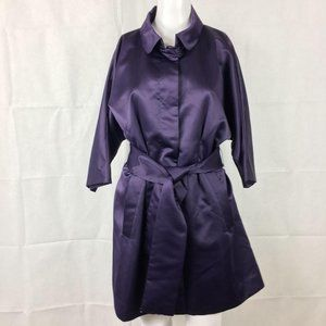 Vera Wang Purple Dressy Belted Trench Coat…